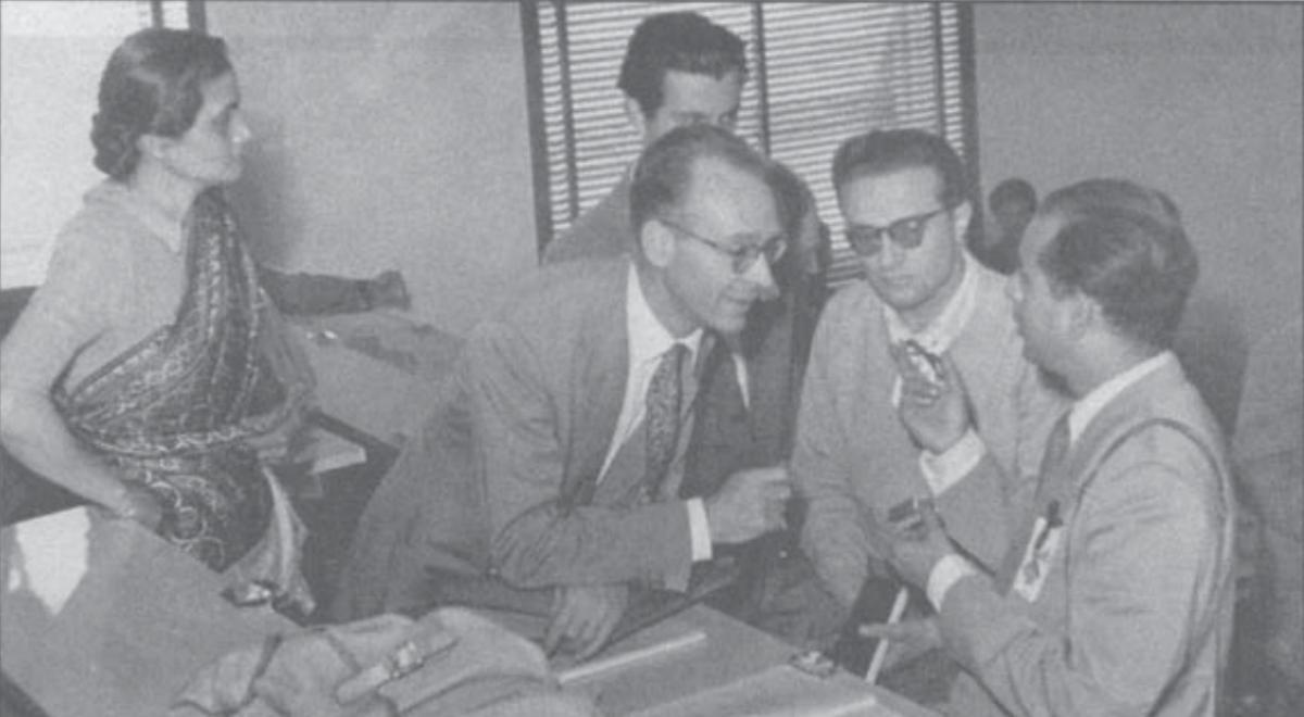 Bibha Chowdhuri at an International conference in Pisa, Italy in 1955. Credit: Noopur Desai