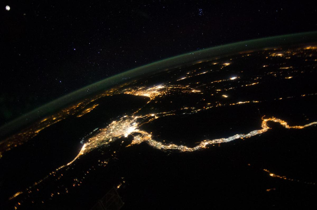 Earth-Observation-Space Station-Cairo-Israel-night jpg | The