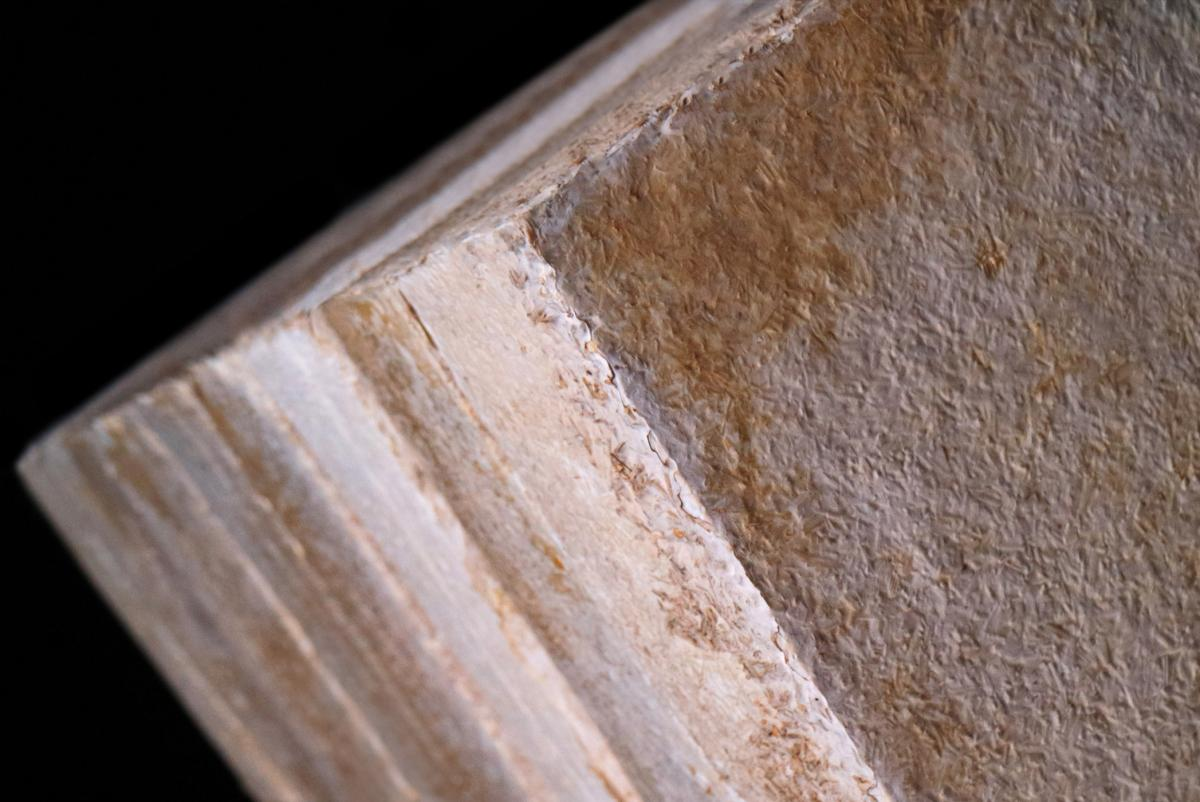 Mycelium insulation panels close up