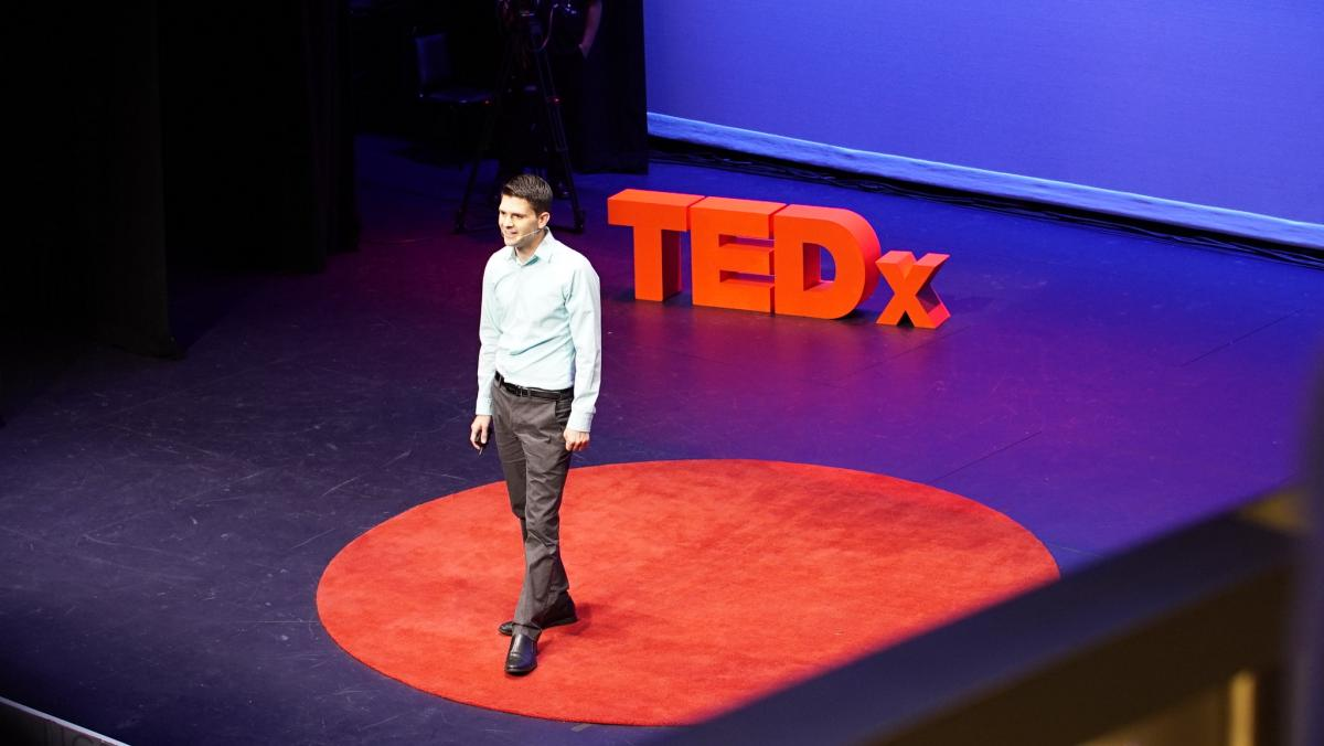 Limbitless Solutions founder Dr Albert Manero speaking at TEDxOrlando in 2017.