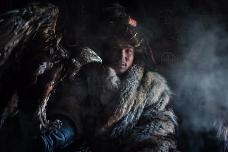 Eagle hunter Shokan is one of the Kazakh nomads super stars—there are lots of documentaries about his life on Nat Geo and Discovery Channel