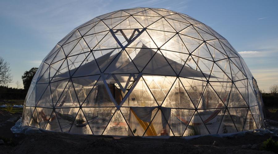 geodesic glass dome